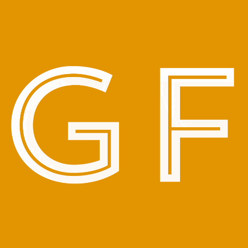 An orange square with a GF lettering