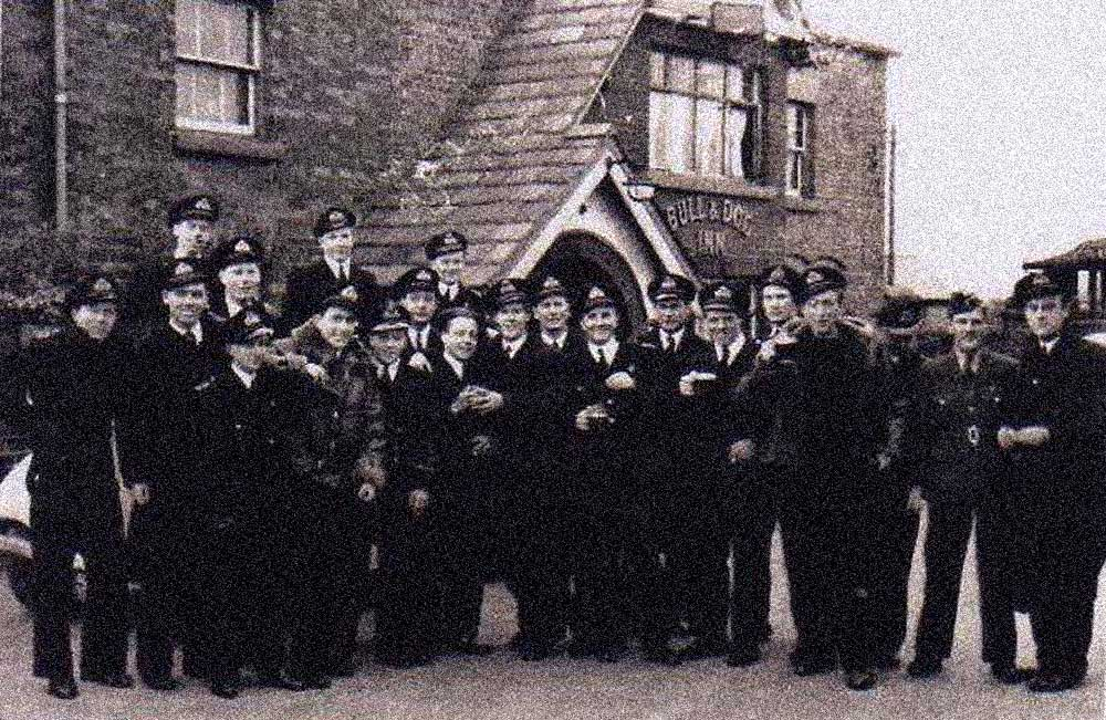 Navy at the Bull & Dog (vintage black & white) pic