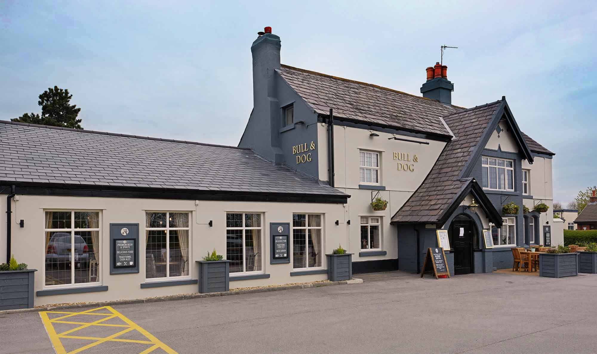 The Bull and Dog Pub in Burscough, Ormskirk.
