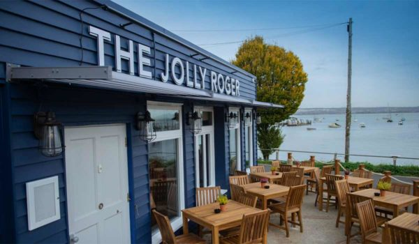 Great views over the bay at the Jolly Roger