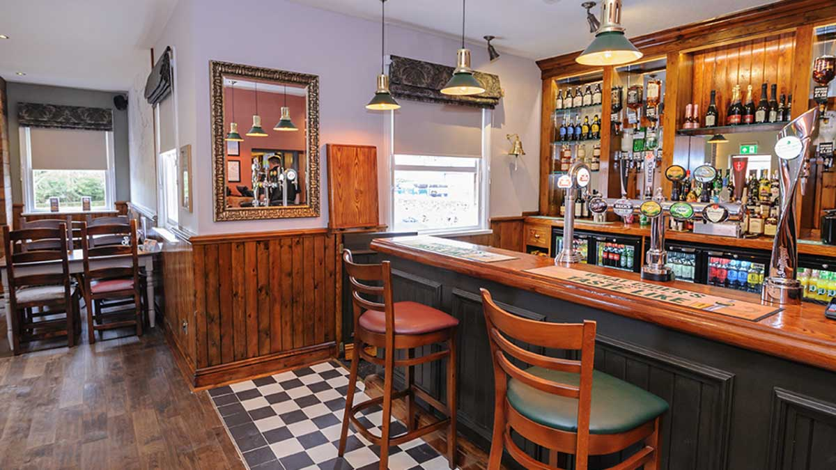 the bar at the Railway Tavern, Charfield