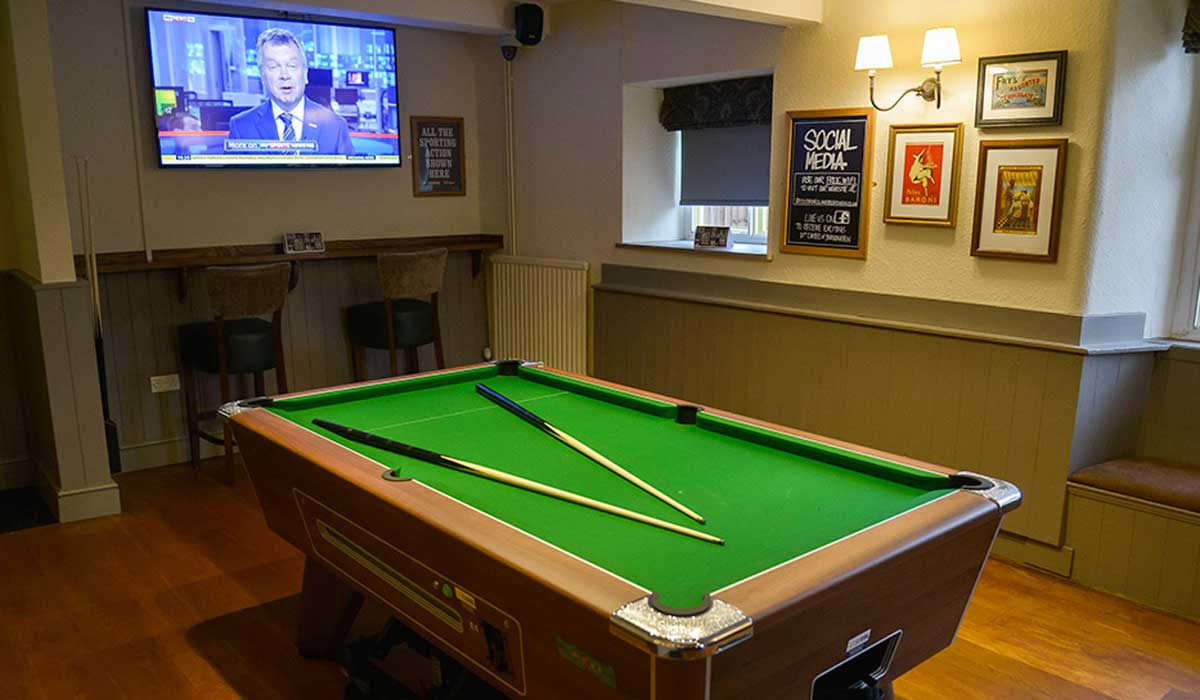Shoot pool, watch sport at the Red Lion