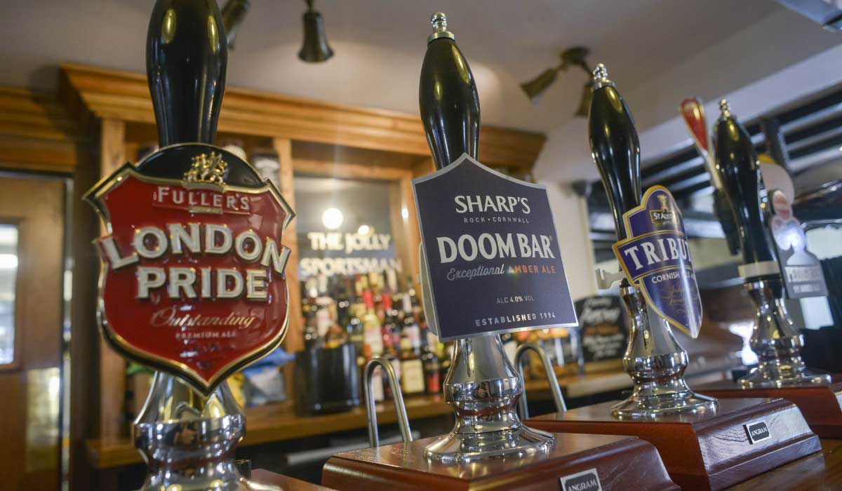 Enjoy a great pint of beer at the Jolly Sportsman